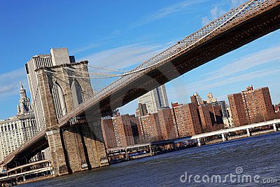 Classical NY - view to Brooklyn bridge