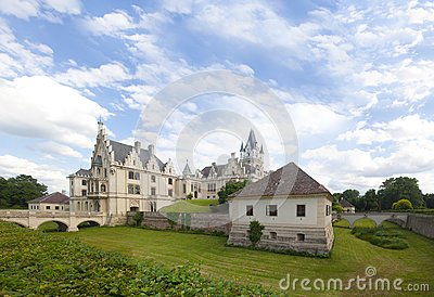 Classical style castle panorama