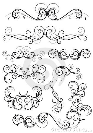 Classical swirly floral decoration