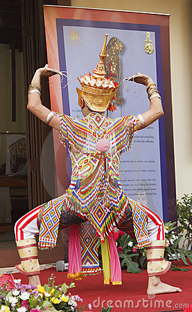 Classical Thai folk-dance Editorial Stock Image