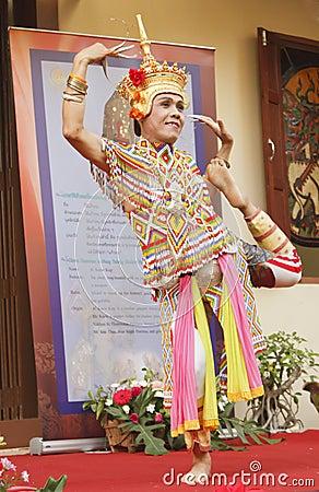 Classical Thai folk-dance Editorial Stock Image