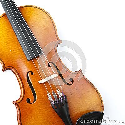 Classical violin close-up