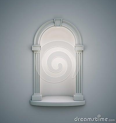 Classical wall niche