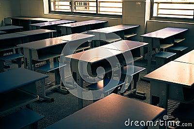 classroom desks arranged in neat rows stock photos image 35315933