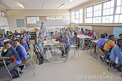 Classroom of an elementary school in Namibia Editorial Stock Photo