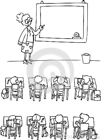 Classroom with pupils