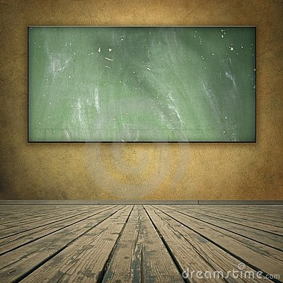 Free Classroom Style Grungy Room With Blackboard Royalty Free Stock Photos - 10814858