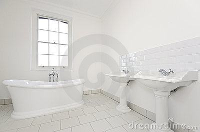 Classy family bathroom with free standing bathtub