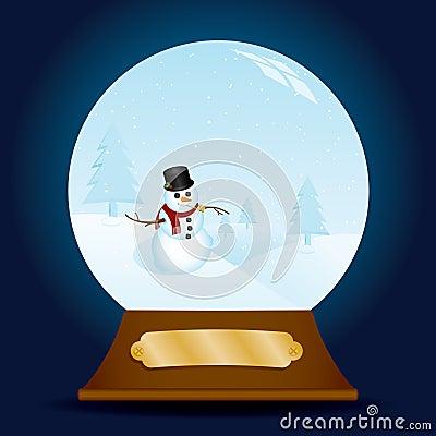 Classy Snowman Snow Globe