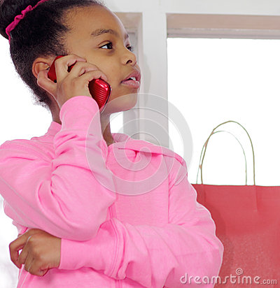 Classy young girl on phone