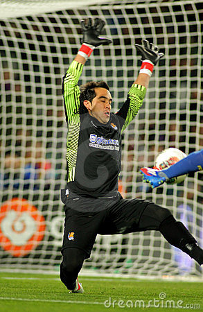 Claudio Bravo of Real Sociedad Editorial Photo