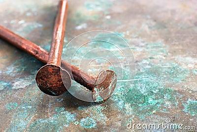 Clavos de cobre foto de archivo imagen 5531730 - Clavos de cobre ...