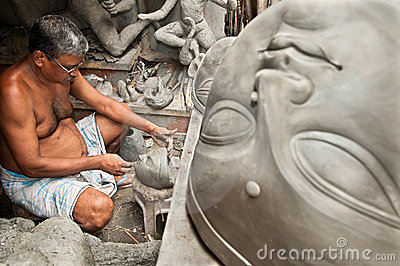 Clay artisan at work Editorial Stock Image