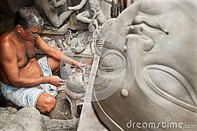 Clay artisan at work Editorial Stock Image