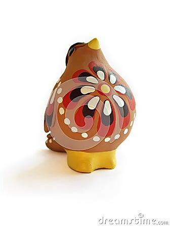 Clay bird whistle
