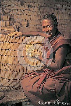 Clay buddha in Tibet Editorial Photo