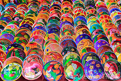 Clay ceramic plates from Mexico colorful