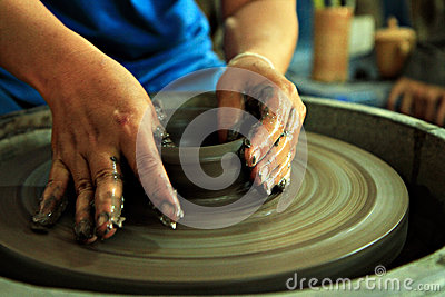 Clay craft is begin