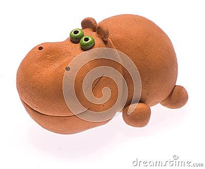 Clay hippopotamus II