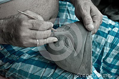 Clay modeling Editorial Stock Photo