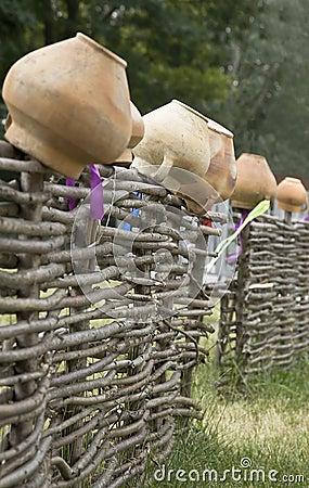 Clay pots