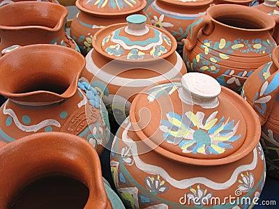 Clay pottery vase