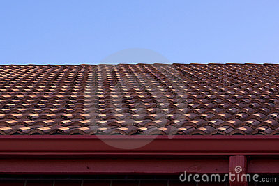 Clay roof and blue sky