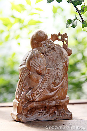 Clay sculpture longevity god