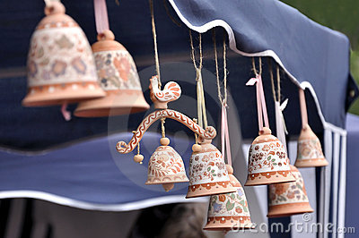 Clay souvenir bells