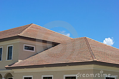 Clay tile roof tops in florida