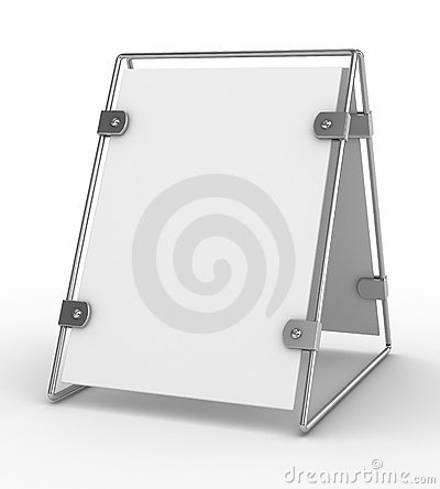Clean advertising board on white background