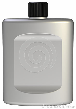 Clean aftershave bottle