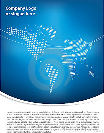 Clean blue brochure design