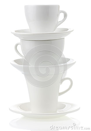 Free Clean Cups And Saucer Stock Photography - 28471032