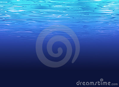 Clean deep sea background - clear blue water