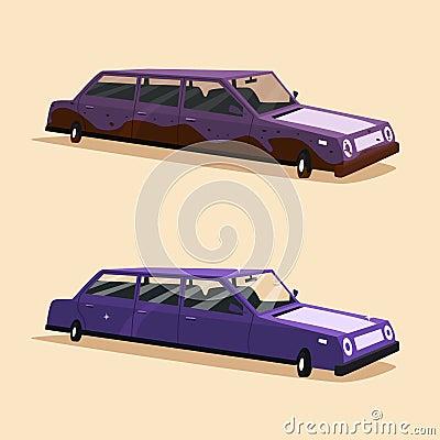 Vector Cartoon Limousine Royalty Free Stock Photos - Image: 13874678