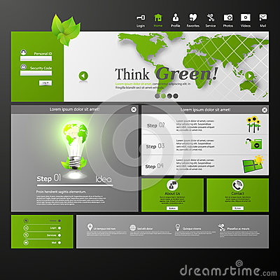 Clean Eco Modern Website template