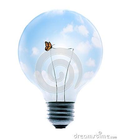 Free Clean Energy Bulb Stock Photo - 5354200