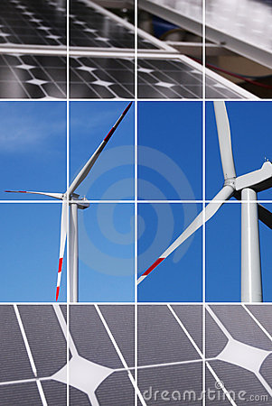Clean Energy Collage Royalty Free Stock Photography - Image: 5174567