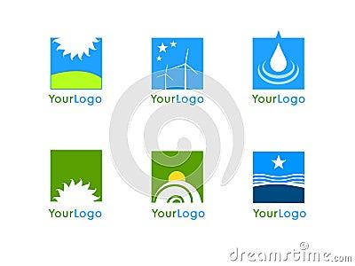 Clean energy company logo vector