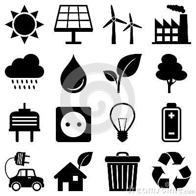Free Clean Energy Environment Icons Stock Images - 28403324
