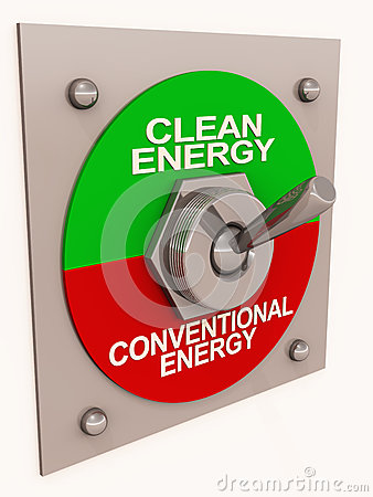 Clean energy switch from conventional