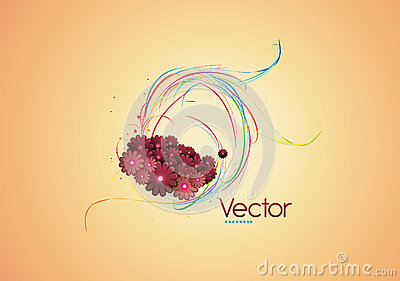 Clean floral vector