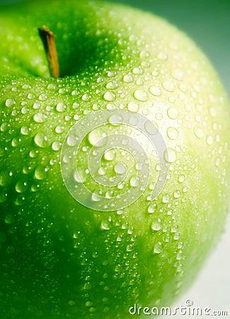 Clean fresh green apple