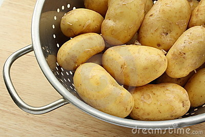 Clean Golden Potatoes