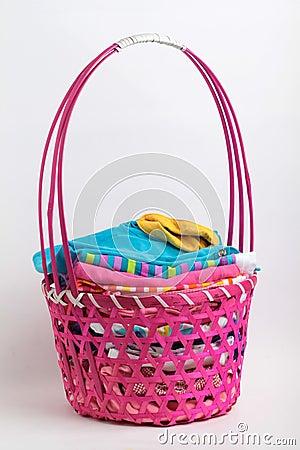 Clean laundry in a fancy busket