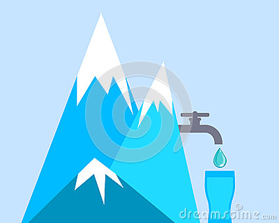Clean Mountain Water Stock Vector Image 64087919