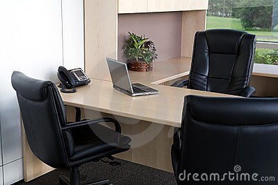 Clean office close up.