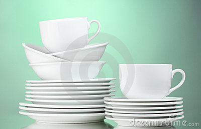 Clean plates, cups