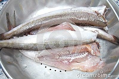 Clean raw fish